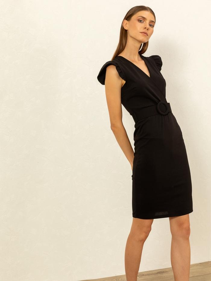 Midi φόρεμα με ζώνη